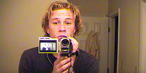 Camera, Hair, Cameras & optics, Hairstyle, Selfie, Digital camera, Photography, Forehead, Point-and-shoot camera, Facial hair,