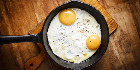 Egg yolk, Food, Ingredient, Egg white, Meal, Fried egg, Breakfast, Recipe, Egg, Dish,