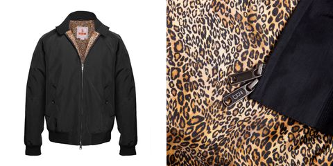 Brown, Sleeve, Collar, Textile, Outerwear, Pattern, Jacket, Black, Fur, Natural material,