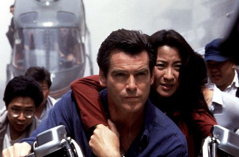 Pierce Brosnan and Michelle Yeoh in Tomorrow Never Dies (1995)