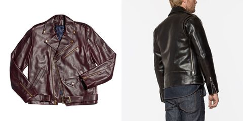 Clothing, Jacket, Leather, Leather jacket, Outerwear, Sleeve, Textile, Top, Collar,