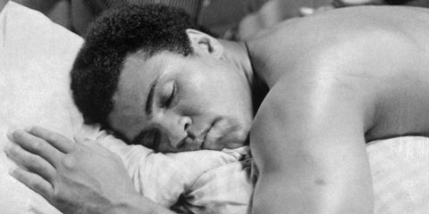 Black, Barechested, Muscle, Arm, Forehead, Eye, Neck, Black-and-white, Sleep, Photography,