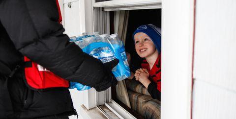 Cap, Glove, Service, Safety glove, Pocket, Plastic bag, Plastic,