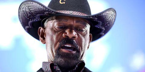 Hat, Cowboy hat, Facial hair, Human, Headgear, Moustache, Beard, Fashion accessory, Photography, Fedora,