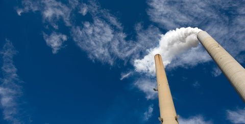 Sky, Blue, Cloud, Smoke, Daytime, Atmosphere, Cumulus, Architecture, Pollution, Chimney,
