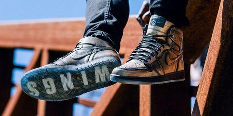 Footwear, Blue, Brown, Shoe, White, Style, Denim, Street fashion, Fashion, Black,