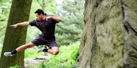 People in nature, Tree, Jumping, Fun, Recreation, Sports, Sports training, Photography, Individual sports, Plant,