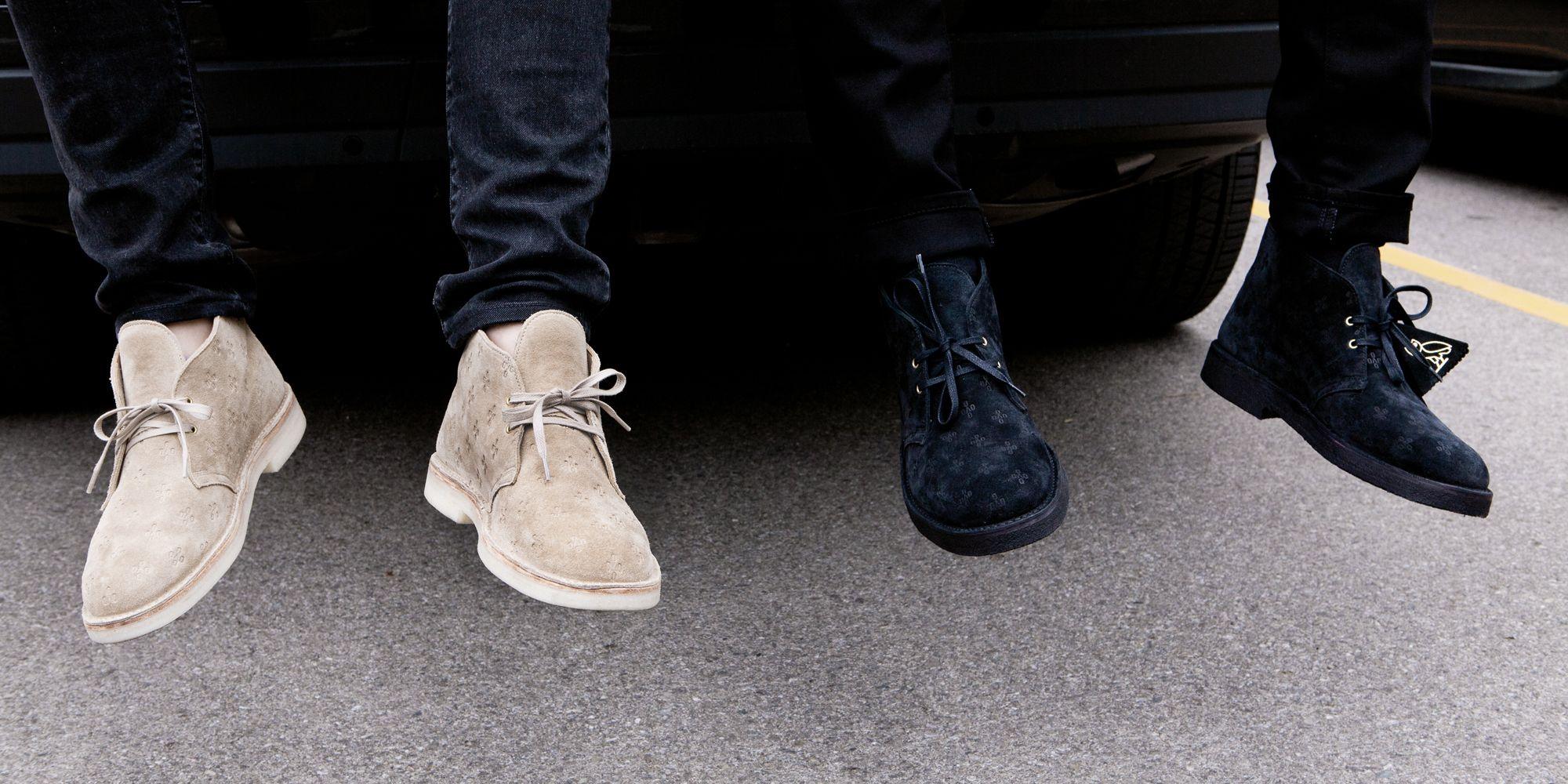 dolor de estómago Ensangrentado apuntalar  Drake's OVO x Clarks Desert Boots Have Finally Arrived