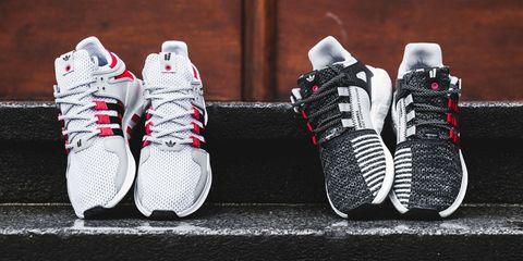 Product, White, Red, Athletic shoe, Pattern, Light, Carmine, Fashion, Running shoe, Black,