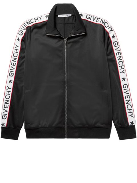 834463a2543 Rubber-Appliquéd Satin-Jersey Track Jacket