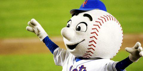 Mascot, Player, Baseball, Sports equipment, Sport venue, Games, Team sport,