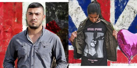 Jacket, T-shirt, Outerwear, Textile, Art, Sleeve, Top, Jeans, Denim,
