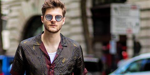 Eyewear, Hair, Sunglasses, Cool, Street fashion, Glasses, Hairstyle, Facial hair, Fashion, Beard,