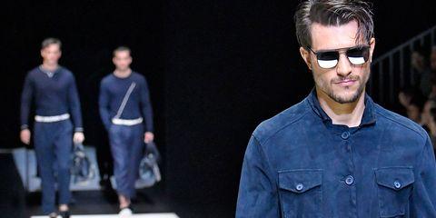 Denim, Eyewear, Fashion, Jeans, Textile, Cool, Human, Glasses, Facial hair, Street fashion,