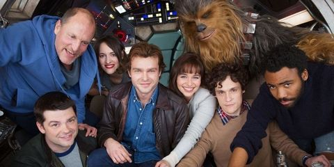 The cast of the Han Solo movie