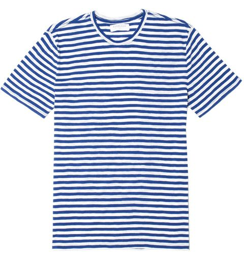 Clothing, T-shirt, White, Sleeve, Blue, Product, Line, Active shirt, Baby & toddler clothing, Top,