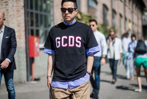 Street fashion, T-shirt, Fashion, Jeans, Glasses, Cool, Human, Sleeve, Eyewear, Street,