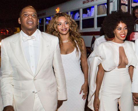 White, Suit, Fashion, Formal wear, Blazer, Skin, Event, Beauty, Outerwear, Friendship,