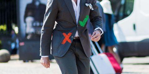 Suit, Blazer, Street fashion, Clothing, Formal wear, Outerwear, Jacket, Fashion, White-collar worker, Businessperson,