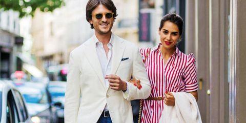 Eyewear, Suit, Street fashion, Fashion, White-collar worker, Blazer, Outerwear, Sunglasses, Formal wear, Fashion design,