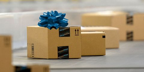 Blue, Box, Present, Material property, Carton, Shipping box, Gift wrapping, Plant, Electric blue, Paper product,