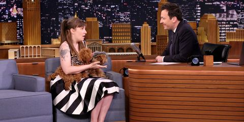 Lena Dunham discusses her new puppies on The Tonight Show