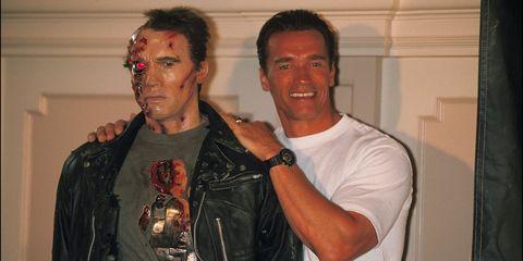 Arnold Schwarzenegger and his doppelgänger