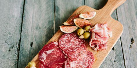 Food, Ingredient, Salumi, Soppressata, Meat, Salt-cured meat, Pork, Salami, Ventricina, Animal product,