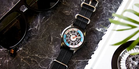 Watch, Watch accessory, Analog watch, Strap, Everyday carry, Circle, Metal, Brand, Measuring instrument, Gauge,
