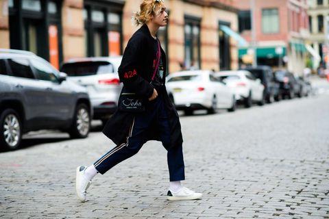 Street fashion, Snapshot, Street, Sportswear, Jogging, Fashion, Running, Infrastructure, Recreation, Footwear,