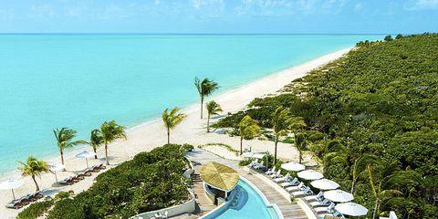 Body of water, Coastal and oceanic landforms, Landscape, Ocean, Shore, Coast, Resort, Swimming pool, Horizon, Caribbean,