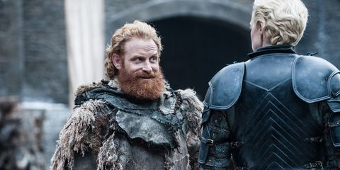 Tormund and Brienne on Game of Thrones