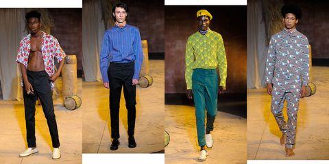 Footwear, Blue, Leg, Yellow, Sleeve, Trousers, Shirt, Textile, Dress shirt, Standing,