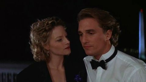 """<p>Hot preacher alert! McConaughey plays a studly reverend and love interest to Jodie Foster's skeptic scientist (who does believe in aliens, ironically) in this twisty sci-fi epic adapted from Carl Sagan's novel.<span class=""""redactor-invisible-space"""" data-verified=""""redactor"""" data-redactor-tag=""""span"""" data-redactor-class=""""redactor-invisible-space"""">&nbsp&#x3B;<strong data-redactor-tag=""""strong"""">Rent/buy on <a href=""""https://www.amazon.com/gp/product/B001AH6ZWY/"""" target=""""_blank"""" data-tracking-id=""""recirc-text-link"""">Amazon</a> and <a href=""""https://itunes.apple.com/us/movie/contact/id279598767"""" target=""""_blank"""" data-tracking-id=""""recirc-text-link"""">iTunes</a>.</strong><span class=""""redactor-invisible-space"""" data-verified=""""redactor"""" data-redactor-tag=""""span"""" data-redactor-class=""""redactor-invisible-space""""></span></span></p>"""