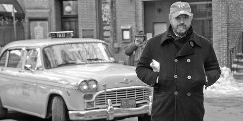 Cap, Vehicle, Hat, Automotive design, Land vehicle, Classic car, Grille, Car, Classic, Coat,