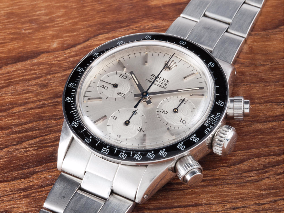 """<p>The """"Albino"""" is an all-white Daytona with a black bezel, a fairly straightforward design and nickname. Only this one belonged to one Eric Clapton. At a Christie's auction in 2008, it sold for $505,000, then the most expensive price ever for a Daytona. Two years ago, it went up for auction again. <a href=""""http://www.esquire.com/style/mens-accessories/news/a34926/eric-claptons-rolex-breaks-auction-record/"""" target=""""_blank"""">It broke a record, again</a>: $1.4 million. """"It was the Clapton Albino Daytona that, to many, really ushered in the modern era of mega vintage Rolex collecting,"""" <a href=""""https://www.hodinkee.com/articles/rolex-albino-daytona-ben-clymer"""" target=""""_blank"""">writes Hodinkee's Ben Clymer</a>. That record didn't last long. </p>"""
