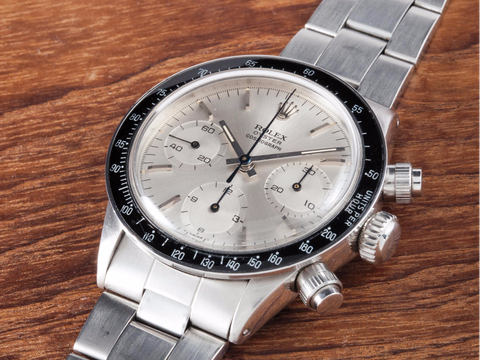 "<p>The ""Albino"" is an all-white Daytona with a black bezel, a fairly straightforward design and nickname. Only this one belonged to one Eric Clapton. At a Christie's auction in 2008, it sold for $505,000, then the most expensive price ever for a Daytona. Two years ago, it went up for auction again. <a href=""http://www.esquire.com/style/mens-accessories/news/a34926/eric-claptons-rolex-breaks-auction-record/"" target=""_blank"">It broke a record, again</a>: $1.4 million. ""It was the Clapton Albino Daytona that, to many, really ushered in the modern era of mega vintage Rolex collecting,"" <a href=""https://www.hodinkee.com/articles/rolex-albino-daytona-ben-clymer"" target=""_blank"">writes Hodinkee's Ben Clymer</a>. That record didn't last long. </p>"