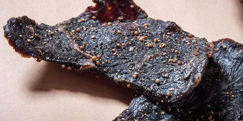 Food, Dish, Cuisine, Brisket, Jerky, Chocolate brownie, Beef, Meat, Ingredient, Ribs,