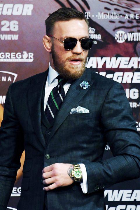 Eyewear, Muscle, Suit,