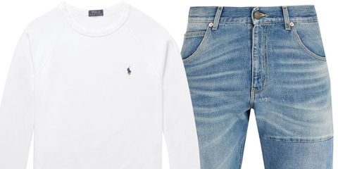 Blue, Product, Sleeve, Denim, Textile, White, Jeans, Collar, Pocket, Fashion,