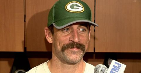 Image result for aaron rodgers mustache
