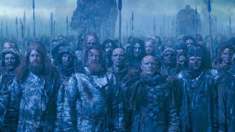 the white walker army made a stark sigil game of thrones