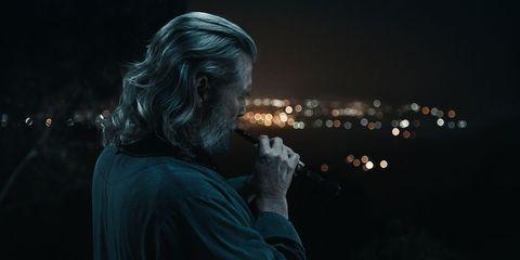 Darkness, Midnight, Beard, Backlighting, Prophet, Smoking,