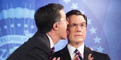Stephen Colbert wax figure