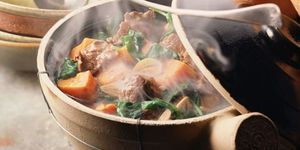 Vegetable and beef hot pot