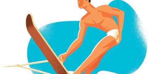 How to Slalom Illustration