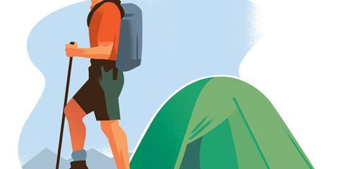 How to Camp Alone Illustration