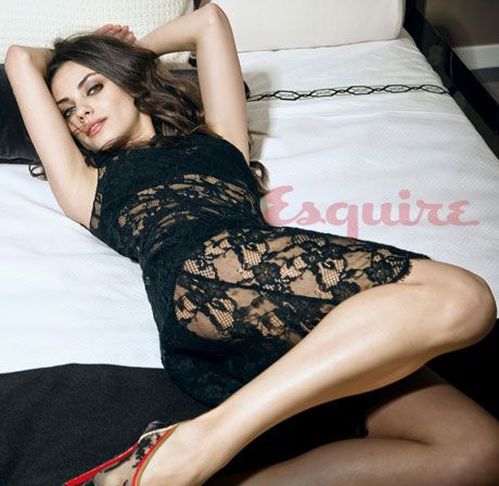 mila kunis picture in lingerie from esquire