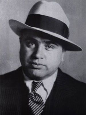 <p><b>Al Capone, gangster</b></p>