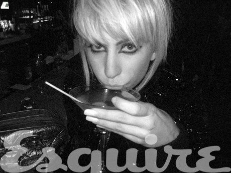 lady gaga drinking